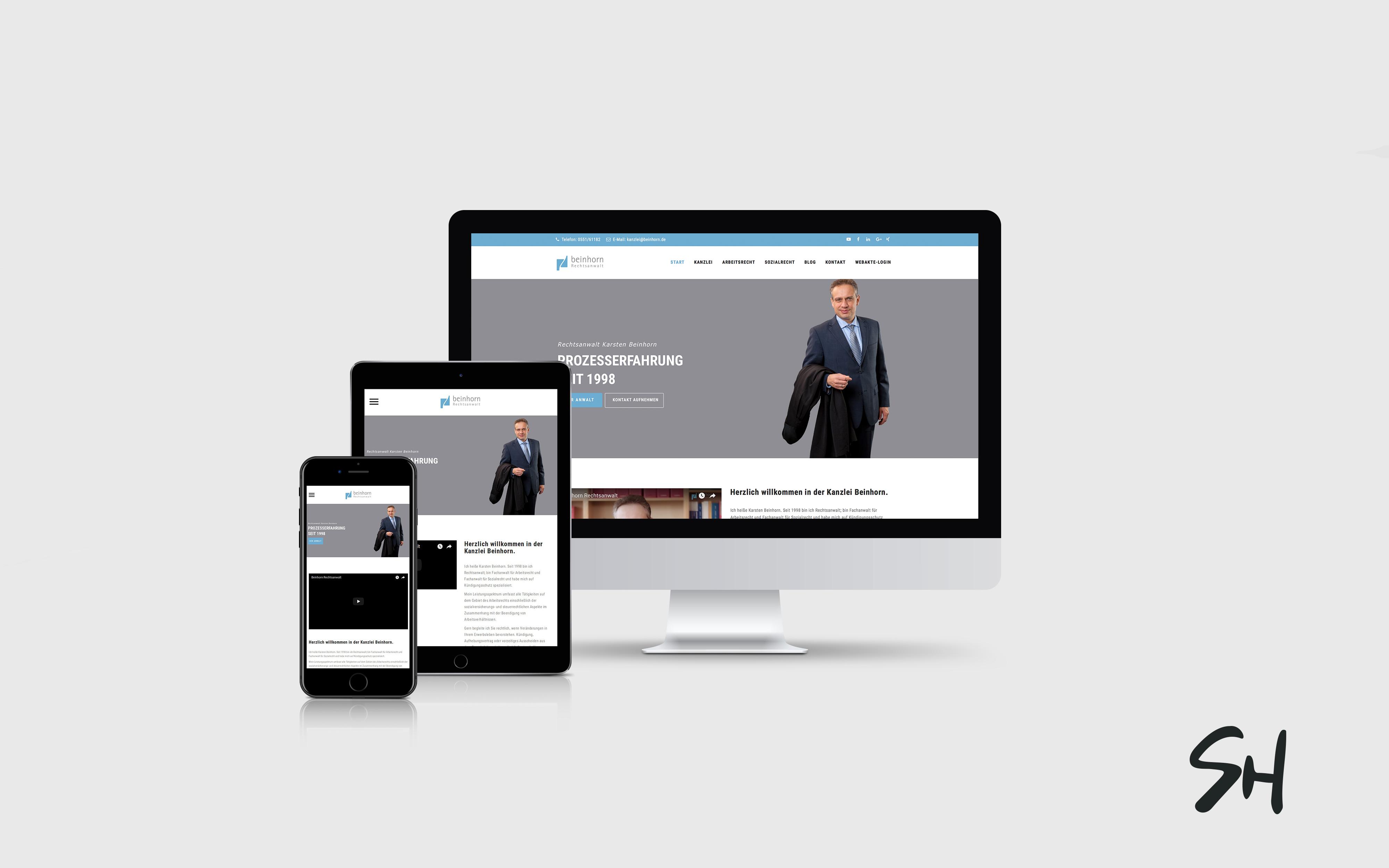 Webdesign für Beinhorn