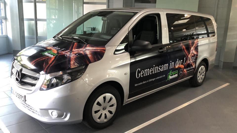 Die Werbeagentur Göttingen hat die Folierung des Autos designt